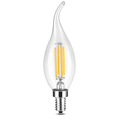ywxlight® e14 4w 100-200lm vodio žarulja / retro edison žarulja / led retro svijeća dovela kuglice hladno bijelo / toplo bijelo ac220-240 v
