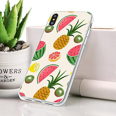 Θήκη Za Apple iPhone XS Max Protiv prašine / Ultra tanko / Uzorak Stražnja maska Hrana / Voće Mekano TPU