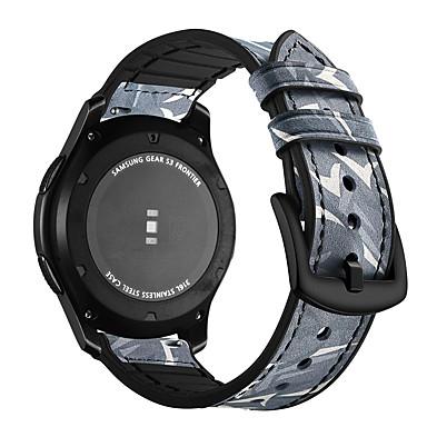 Pogledajte Band za Gear S3 Frontier / Gear S3 Classic / Gear S3 Classic LTE Samsung Galaxy Moderna kopča Silikon / Prava koža Traka za ruku