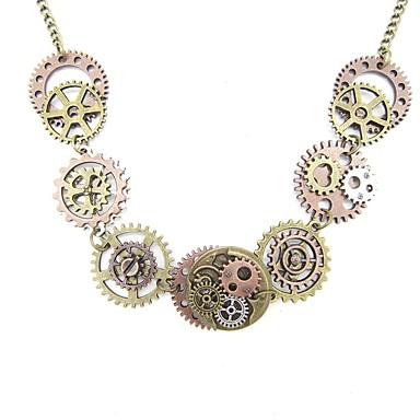 hesapli Vintage Kolye-Kadın's Vintage Kolye Eski Tip Tarz Dişli Bayan Şık Vintage Steampunk alaşım Altın 51 cm Kolyeler Mücevher 1pc Uyumluluk Cadde