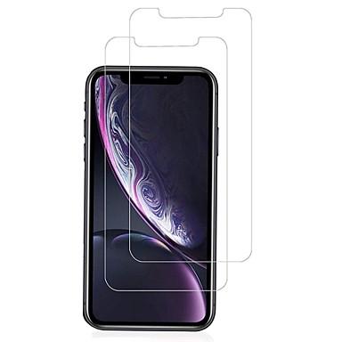 voordelige iPhone screenprotectors-AppleScreen ProtectoriPhone XR 9H-hardheid Voorkant screenprotector 2 pcts Gehard Glas