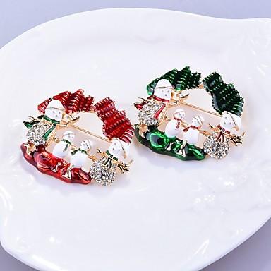 Žene Broševi Klasičan dame Stilski Broš Jewelry Crvena Zelen Za Božić