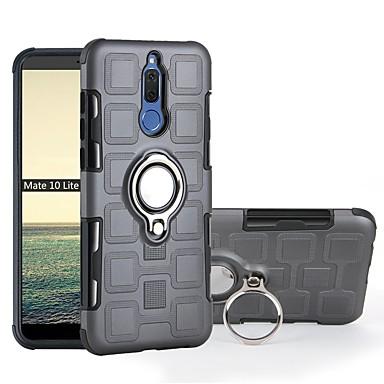 رخيصةأون Huawei أغطية / كفرات-غطاء من أجل Huawei Mate 10 pro / Mate 10 lite ضد الصدمات / حامل الخاتم غطاء خلفي درع ناعم TPU