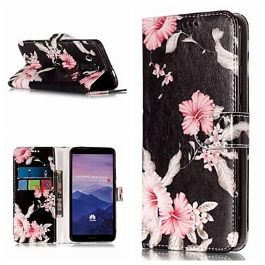 voordelige Huawei Mate hoesjes / covers-hoesje Voor Huawei Mate 10 / Mate 10 pro / Mate 10 lite Portemonnee / Kaarthouder / met standaard Volledig hoesje Bloem Hard PU-nahka