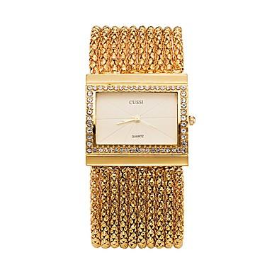 Žene Luxury Watches Ručni satovi s mehanizmom za navijanje Diamond Watch Japanski Kvarc Nehrđajući čelik Srebro / Zlatna Kronograf Svjetleći Casual sat Analog dame Svjetlucavo Okrugla - Zlato Pink