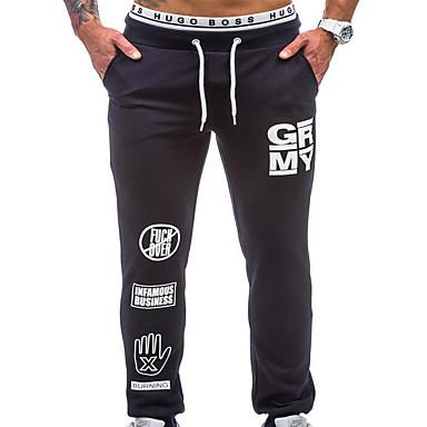 Muškarci Osnovni Sportske hlače Hlače - Slovo Crn
