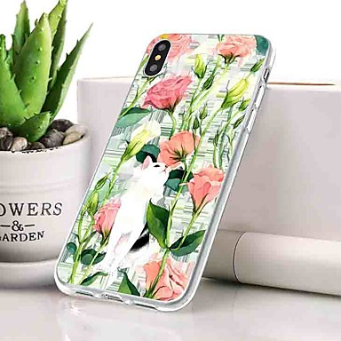 Θήκη Za Apple iPhone XS Protiv prašine / Ultra tanko / Uzorak Stražnja maska Cvijet Mekano TPU za iPhone XS