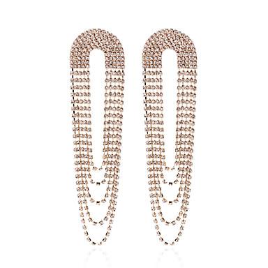 Žene Viseće naušnice Retro dame Europska Umjetno drago kamenje Glina Pozlaćeni Naušnice Jewelry Zlato / Pink Za Ulica 1 par