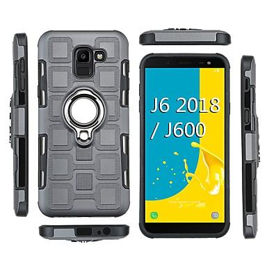 voordelige Galaxy J-serie hoesjes / covers-hoesje Voor Samsung Galaxy J8 (2018) / J7 (2018) / J6 (2018) Schokbestendig / Ringhouder Achterkant Schild Zacht TPU