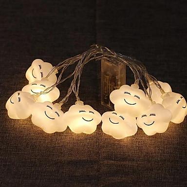 1m Žice sa svjetlima 10 LED diode Toplo bijelo Ukrasno AA baterije su pogonjene 1set