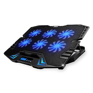 olcso Laptop hűtőpad-állítható LED kijelző intelligens vezérlés laptop hűtő pad 5 ventilátorok