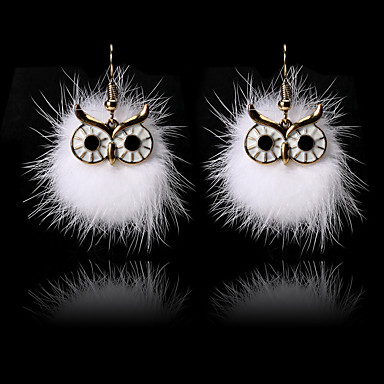 Žene Viseće naušnice Klasičan Sova dame Crtići Moda Slatka Style Naušnice Jewelry Crn / Braon / Obala Za Praznik Izlasci 1 par