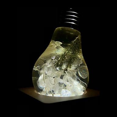 E.P.LIGHT 1pc 3 W 160/ E26 / E27 LED okrugle žarulje A60(A19) 1 LED zrnca Visokonaponski LED Kreativan / Party / Ukrasno Toplo bijelo 90-240 V / RoHs / FCC / VDE