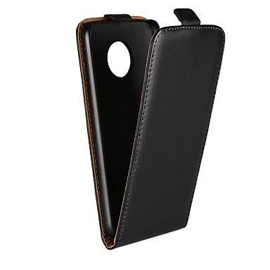 Недорогие Чехлы и кейсы для Motorola-Кейс для Назначение Motorola Moto X4 / Moto X Play / Moto X со стендом / Флип Чехол Однотонный Твердый Настоящая кожа / Мото G5 Plus