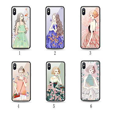 voordelige iPhone-hoesjes-hoesje Voor Apple iPhone X Stofbestendig / Patroon Achterkant Vlinder / Sexy dame / Cartoon Hard TPU