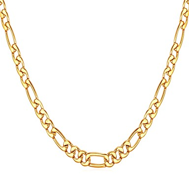 Muškarci Lančići Luka Figaro Mariner Chain Moda Tikovina Zlato Crn Pink 55 cm Ogrlice Jewelry 1pc Za Dar Dnevno