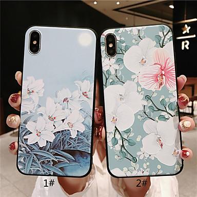 Θήκη Za Apple iPhone XS / iPhone XR / iPhone XS Max Mutno / Reljefni uzorak / Uzorak Stražnja maska Cvijet Mekano TPU