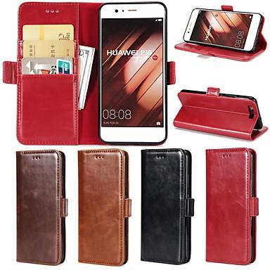 Θήκη Za Huawei Huawei P20 / Huawei P20 Pro / Huawei P20 lite Novčanik / Utor za kartice / sa stalkom Korice Jednobojni Tvrdo prava koža / P10 Plus / P10 Lite