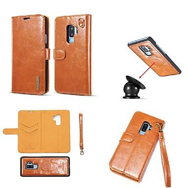 Θήκη Za Samsung Galaxy S9 / S9 Plus / S8 Plus Utor za kartice / Otporno na trešnju / sa stalkom Korice Jednobojni / Țiglă Tvrdo prava koža