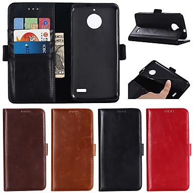 Θήκη Za Motorola MOTO G6 / Moto G6 Plus / Moto G5 Plus Novčanik / Utor za kartice / sa stalkom Korice Jednobojni Tvrdo prava koža
