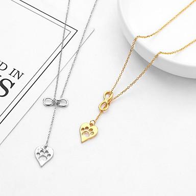 Žene Ogrlice s privjeskom crossover Srce dame Jedinstven dizajn slatko Moda Legura Zlato Pink 36+5 cm Ogrlice Jewelry 1pc Za Izlasci Rad