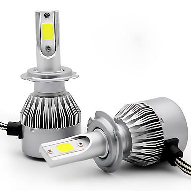 voordelige Autokoplampen-2 stks h1 h3 h7 h8 h9 h11 auto gloeilampen 36 w cob 3800lm 2 leds koplamp