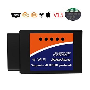 Недорогие OBD-elm327 16 pin obd2 wifi v1.5 инструмент для диагностики автомобилей детектор неисправностей автомобиля детектор неисправностей автомобиля сканер кода сканер