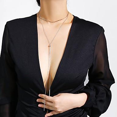 Žene Duga ogrlica Nosiljka ogrlica Klasičan dame Umjetnički Romantični slatko Kamen Legura Zlato Pink 40 cm Ogrlice Jewelry 1pc Za diplomiranje Dar