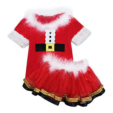 Cosplay Nošnje Santa Clothe Dječji Dječaci Božić Božić New Year Festival / Praznik Polyster Red Karneval kostime Odmor