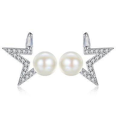 Žene Naušnica Klasičan Csillag dame Slatka Style Imitacija bisera Naušnice Jewelry Pink Za Dnevno Spoj 1 par