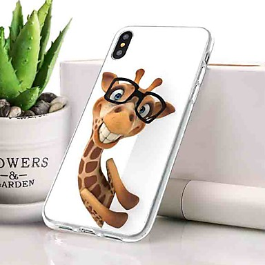 Θήκη Za Apple iPhone XS Protiv prašine / Ultra tanko / Uzorak Stražnja maska Životinja Mekano TPU za iPhone XS