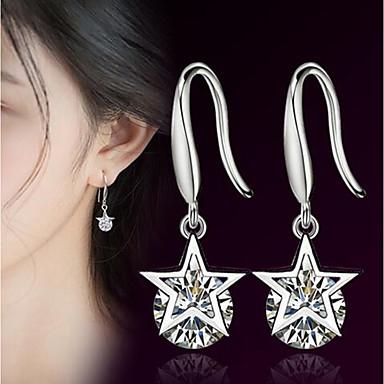 Žene Kubični Zirconia Viseće naušnice 3D Csillag dame Stilski Klasik Naušnice Jewelry Pink Za Dnevno 1 par