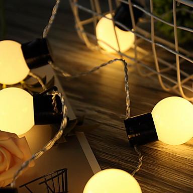 5m Žice sa svjetlima 20 LED diode Toplo bijelo Ukrasno AA baterije su pogonjene 1set