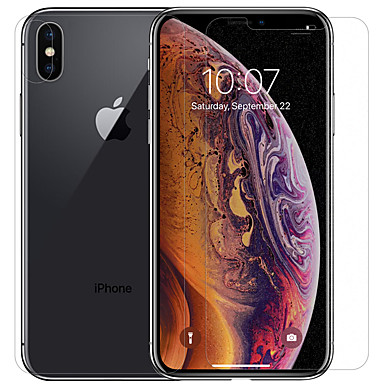 voordelige iPhone screenprotectors -AppleScreen ProtectoriPhone XS Max High-Definition (HD) Voor- en cameralensbeschermer 1 stuks PET