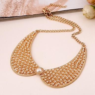 Žene Ogrlice-kragna dame Stilski Jednostavan zdepast Imitacija bisera Legura Zlato 32+7 cm Ogrlice Jewelry 1pc Za Dnevno