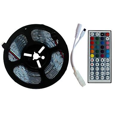 SENCART 5m Setovi svjetala 300/150 LED diode SMD5050 1 44Ključuje daljinski upravljač RGB Cuttable / Ukrasno / Povezivo 12 V 1set