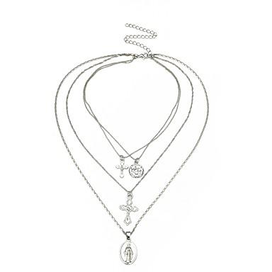 Žene Ogrlice s privjeskom crossover dame Tropical Casual / sportski Gotika Kamen Legura Zlato Pink 50 cm Ogrlice Jewelry 1pc Za Nova Godina Festival