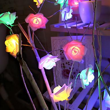 3M Žice sa svjetlima 20 LED diode Više boja Ukrasno AA baterije su pogonjene 1set