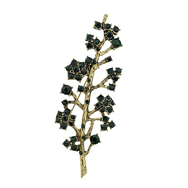Žene Kubični Zirconia Broševi Tropical Leaf Shape dame Jednostavan Osnovni Broš Jewelry Zlatan Za Spoj Rad