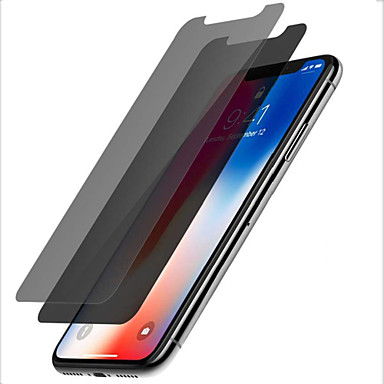 voordelige iPhone screenprotectors-AppleScreen ProtectoriPhone XS 9H-hardheid Voorkant screenprotector 2 pcts Gehard Glas