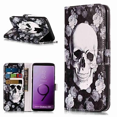 Θήκη Za Samsung Galaxy S9 / S9 Plus / S8 Plus Novčanik / Utor za kartice / sa stalkom Korice Lubanje Tvrdo PU koža