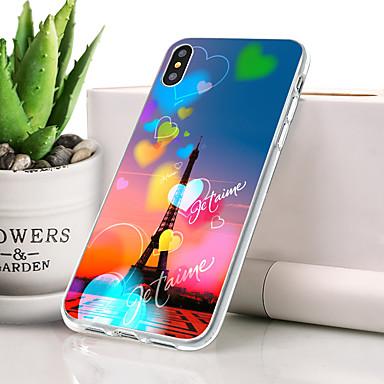 voordelige iPhone-hoesjes-hoesje Voor Apple iPhone XR Stofbestendig / Ultradun / Patroon Achterkant Hart / Eiffeltoren Zacht TPU