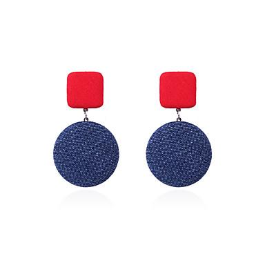 Žene Viseće naušnice Retro dame Stilski Korejski Glina Naušnice Jewelry Light Red / Zelen / Tamno ljubičasta Za Ulica 1 par