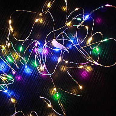 10m Žice sa svjetlima 100 LED diode Više boja Ukrasno AA baterije su pogonjene 1set