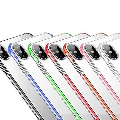 Θήκη Za Apple iPhone X / iPhone XS Max Otporno na trešnju / Prozirno Stražnja maska Jednobojni Mekano TPU za iPhone XR / iPhone XS Max / iPhone X