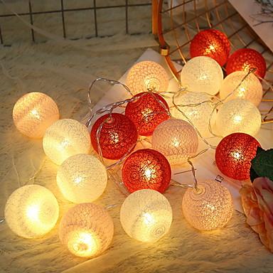 2m Žice sa svjetlima 20 LED diode Ružičasto Ukrasno AA baterije su pogonjene 1set