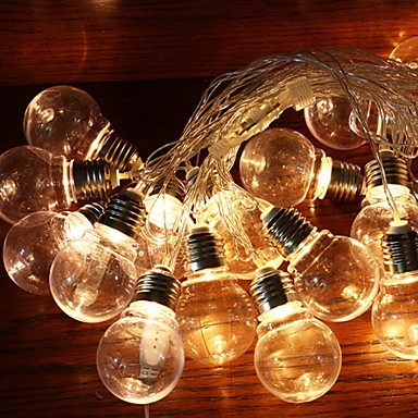 2.5m Žice sa svjetlima 10 LED diode Toplo bijelo Ukrasno Napelemes 1set
