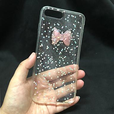 voordelige iPhone 6 Plus hoesjes-hoesje Voor Apple iPhone 8 / iPhone 7 / iPhone 6s Plus Transparant / Glitterglans Achterkant Glitterglans Hard PC