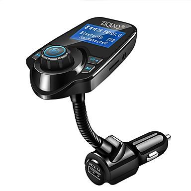 Недорогие Bluetooth гарнитуры для авто-Автомобильный mp3-плеер Bluetooth FM-передатчик беспроводной FM модулятор автомобильный комплект громкой связи ЖК-дисплей USB зарядное устройство