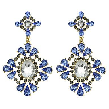 Žene Kubični Zirconia Viseće naušnice Geometrijski dame Osnovni Moda Naušnice Jewelry Plava Za Dnevno Spoj 1 par